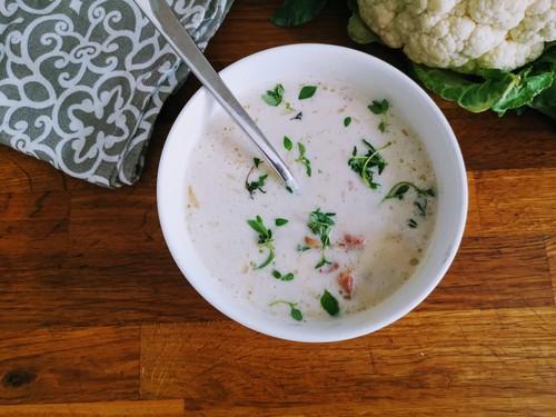 Zupa-krem z kalafiora z boczkiem