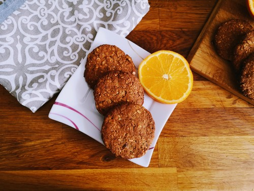 Ciasteczka owsiane z nutą pomarańczy